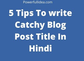 Catchy Blog Post Title In Hindi
