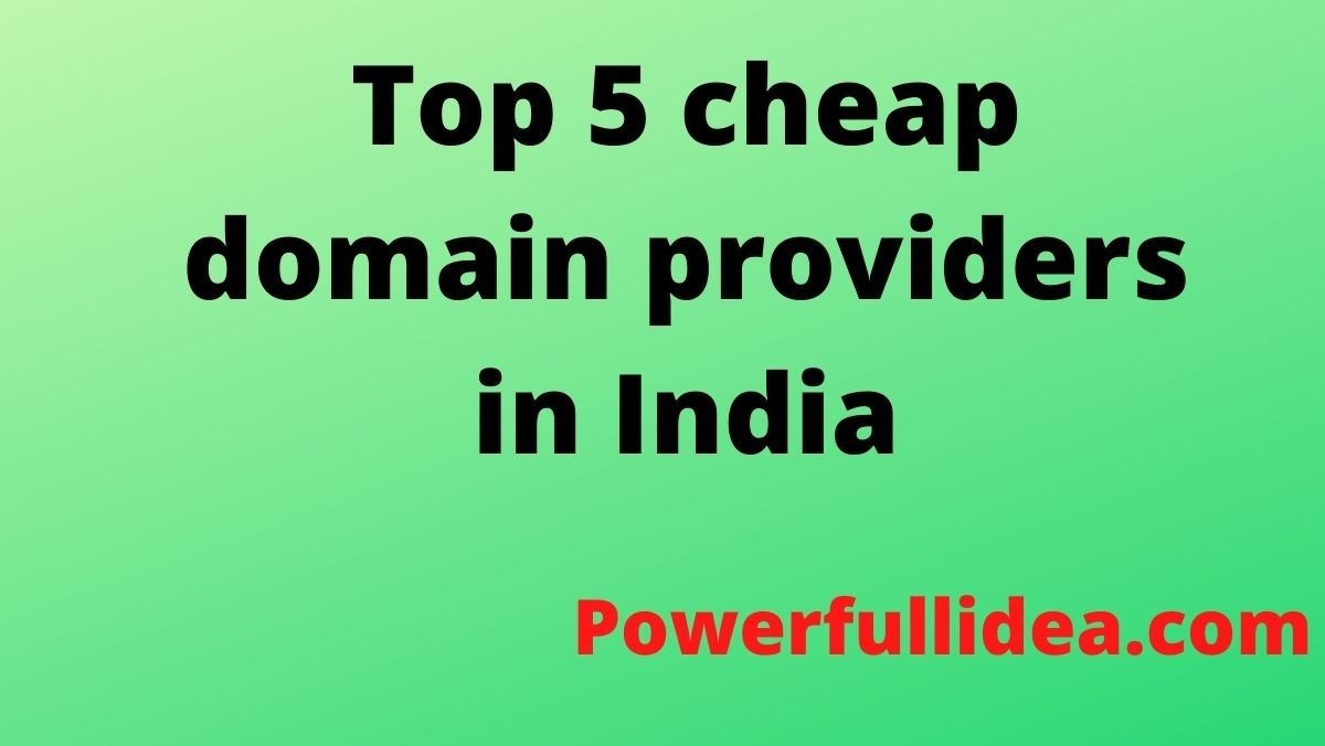 Top 5 cheap domain providers in India